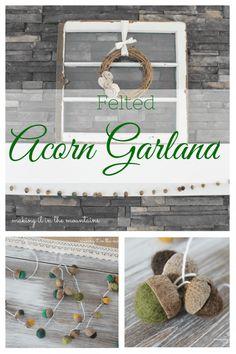 DIY Felted Acorn Gar