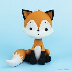 Kawaii Cute Fox fondant / polymer clay tutorial