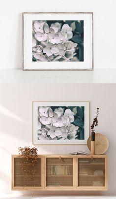 Dark Flowers, Big Photo, Wall Decor, Wall Art, Living Room Art, Bedroom Wall, Shopping Stores, Online Shopping, Hydrangea
