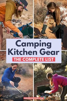 The ultimate list of camp kitchen gear for your next car camping trip! When it comes to camping kitchen essentials, this list has you covered with everything you actually need, and nothing you don't. Cook easy camp stove meals, or get more ambitious with the dutch oven - either way, this is all the camp gear that I use and love on my camping trips. Let's get started! #camping Camping Packing, Packing List For Travel, Camping Essentials, Camping Survival, Kitchen Essentials, Tent Camping, Camping Hacks, Packing Lists, Camping Meals