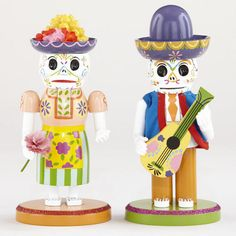 World Market - Wood Los Muertos Nutcracker Figures, $25.98...Thanks to Anna for pointing these out to me!