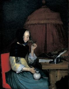 Woman with Wineglass -- Gerard ter Borch