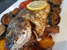 Greek Recipes, Fish Recipes, Seafood Recipes, Cooking Recipes, Fish And Seafood, Brunch, Food And Drink, Chicken, Meat