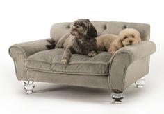 Enchanted Home Pet La Joie Velvet Tufted Dog Sofa & Reviews | Wayfair