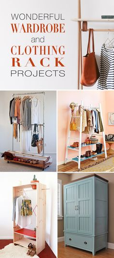 Wonderful Wardrobe & Clothing Rack Projects! • Tons of amazing tutorials and ideas on wardrobes and racks that you can make yourself!