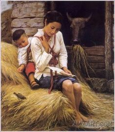 Nació en Shaoyan, en la provincia de Hunan, República de China, en 1954. Hizo sus estudios sistemáticos de pintura en su país graduándose en 1982 y tras notables éxitos artísticos, se estableció definitivamente en Los Ángeles, California, en 1988.
