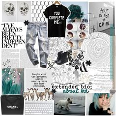 EXTENDED BIO //☾ by she-has-a-porcelain-soul on Polyvore featuring Pier 1 Imports, Assouline Publishing, ASOS, Chanel and éS