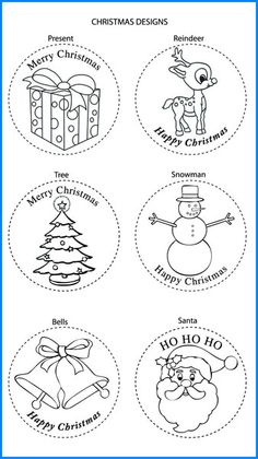 Christmas Mixed Designs - Colour In Yourself Badges Christmas Mix, Christmas Crafts, Xmas, Christmas Activities, Christmas Printables, Christmas Cards Drawing, Badges, Reindeer, Stencils
