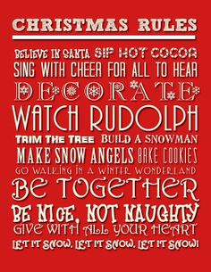 Christmas house rules from Next | Signs | Pinterest | Uk online ...