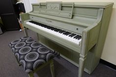Story and Clark Shaby Chic piano Fully Restored. The artist used the chic new designer chalk paint by Annie Sloan in Chateau Grey.  This paint is perfect for pianos because it's breathable and non-toxic. It is all tuned and ready to go! $2,200 OBO