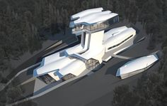 Spaceship? No! It's supermodel's Naomi Campbell's new 28,000 sq. ft modern home in Moscow.  http://www.celebdigs.com/gallery.php?id=33344=3