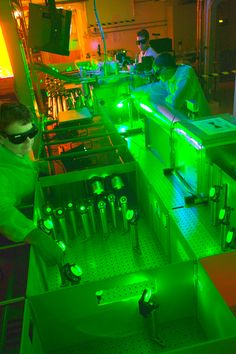 Berkeley Lab scientists working with a 40-terawatt laser. Berkeley Lab scientists stunned the world in 2006 when they proved they could accelerate electrons to very high energies (1 GeV, or a billion electron volts) in a distance of centimeters rather than hundreds of meters. Using the same concepts, those scientists plan to take the project to the next level and build a laser-based accelerator capable of zapping electron beams to energies exceeding 10 GeV in a distance of just one meter.