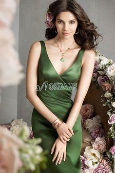 Reißverschluss A-Line V-Ausschnitt normale Taille Brautjungfernkleid/ Abendkleid