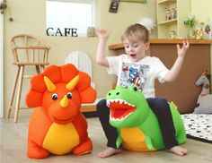 Dinosaur Bean Bag Tyrannosaurus Triceratops Doll Baby Cushion Chair