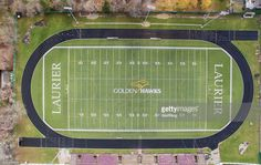 View Stock Photo of Wilfrid Laurier University Golden Hawks Rugby Playing Field. Find premium, high-resolution photos at Getty Images. Football Field, Baseball Field, Wilfrid Laurier, Birds Eye View, High Resolution Photos, Rugby, Back To School, University, Stock Photos