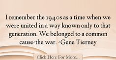 Gene Tierney Quotes About War - 72275