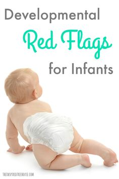 The Most Common Developmental Red Flags for Infants The Inspired Treehouse – Learn about some common developmental red flags for infants that we use to identify developmental delays and other problems. - Baby Development Tips Development Milestones, Toddler Development, Physical Development, Baby Milestones, Pediatric Physical Therapy, Pediatric Ot, Occupational Therapy, Infant Activities, Learning Activities