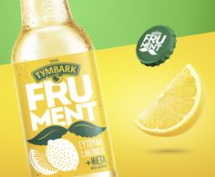 Designed by: Brainbo… Tymbark Frument – napoje owocowe / fruit-based soft drinks. Designed by: Brainbox - Fresh Drinks Water Packaging, Fruit Packaging, Beverage Packaging, Bottle Packaging, Packaging Design, Fruit Drinks, Fruit Fruit, Beer Label, Food Label