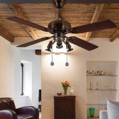 Ceiling fan with light Galerna - Fabrilamp - Wonderlamp. Rustic Room, Modern Ceiling, Led, Fashion Room, Ceiling Fan, Bulb, Shop, Lighting, Home Decor
