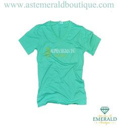 Start thinking about those graduating Seniors with the Mint Alumna V-neck! Clean and classic