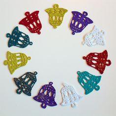 Get the free written pattern for the crochet bell in Knit & Crochet Christmas blog.