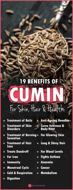 19 Amazing Benefits Of Cumin (Jeera) For Skin, Hair And Health Calendula Benefits, Lemon Benefits, Health Benefits, Health Tips, Fitness Workouts, Fitness Tips, Herbal Remedies, Health Remedies, Stomach Ulcers