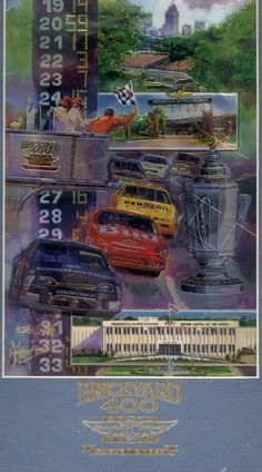 BRICKYARD 400 ART WORK FRONT ROW COLLECTIBLES 1996