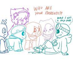 I ain't no ship child! Undertale Memes, Undertale Drawings, Undertale Ships, Undertale Fanart, Undertale Comic, Sans Cute, Time Kids, Funny Comics, Marvel Memes