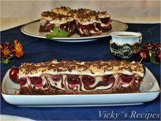 Prăjitură zebră din albușuri cu vișine și ciocolată Romanian Desserts, Romanian Food, Romanian Recipes, Something Sweet, Culinary Arts, Diy Food, Cake Cookies, Sweet Treats, Good Food