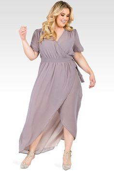 Standards & Practices Robin Maxi Dress Smokey Grey And Mauve in Gray - Plus Size Maxi Dresses - Ideas of Plus Size Maxi Dresses Plus Size Wedding Guest Dresses, Bridesmaid Dresses Plus Size, Plus Size Maxi Dresses, Bride Dresses, Chiffon Dresses, Bridesmaid Gowns, Fall Dresses, Long Dresses, Party Dresses