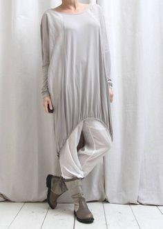 European Culture taupe oversized jurk