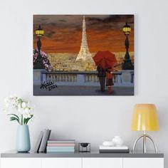 City of Love Canvas Gallery Wraps - 14″ × 11″ / Premium Gallery Wraps (1.25″)