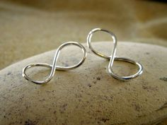 Petite Silver Infinity Connectors Links  1 Pair by PisceanDreams