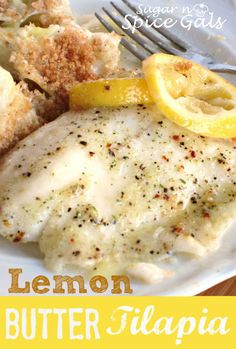 This lemon butter tilapia is so flaky and moist it will just melt in your mouth!