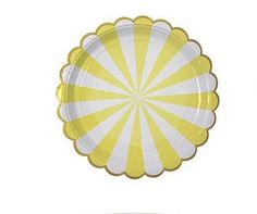 Striped Paper Plates in 8 Colors
