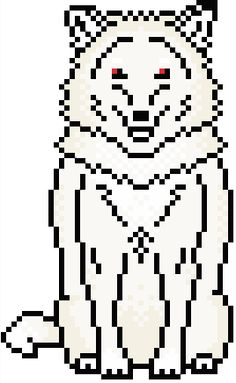 (10) Name: 'Embroidery : GoT: Ghost (Jon Snow's Direwolf)
