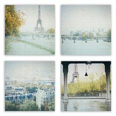 Paris Autumn Decor, Paris Photography, Paris photo, Paris Print Set, Eiffel Tower Wall Art - Photography Set of 4 Fine Art Photographs