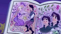 Eugene in Rapunzel's journal Disney Rapunzel, Tangled Rapunzel, Princesa Disney, Arte Disney, Disney Fan Art, Disney Love, Disney Magic, Princess Rapunzel, Disney Princesses