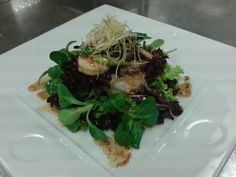 Shrimp and Mushroom salad Black bean dressing