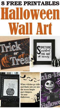DIY Home Sweet Home: 8 Free Halloween Wall Art Printables
