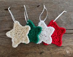 Christmas Star Ornament - Free Crochet Pattern from the Painted Hinge.