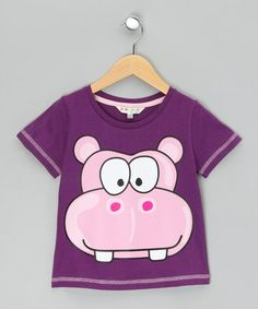 Take a look at this Purple Hippo Tee  by WW Group on #zulily today!