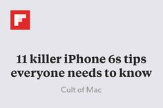 11 killer iPhone 6s tips everyone needs to know http://flip.it/Yq3Hg