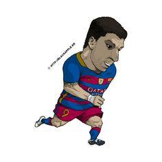 FC Barcelona - Luis Suarez Fan Art
