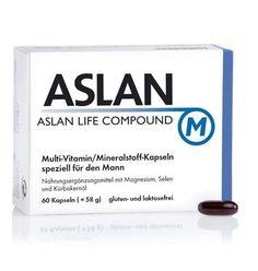 ASLAN Life Compound M für mehr Leistungskraft. ASLAN Life Compound M  Vitamin-Grundversorgung für Männer