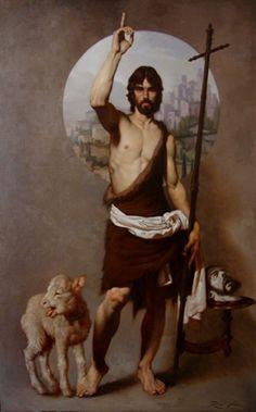 Roberto Ferri- St John and the Lamb