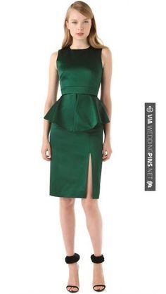 Fantastic! - Peter Som Emerald Green Sleeveless Peplum Dress @Shopbop | CHECK OUT MORE GREAT GREEN WEDDING IDEAS AT WEDDINGPINS.NET | #weddings #greenwedding #green #thecolorgreen #events #forweddings #ilovegreen #emerald #spring #bright #pure #love #romance
