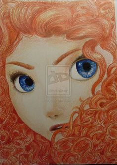 Drawing - Merida (Brave)  http://xxanouk95.deviantart.com/ https://www.facebook.com/Anouktekent