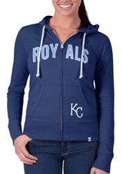 '47 KC Royals Womens Grey Pep Rally Full Zip Jacket