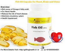 Order #fishoilcapsules, which contain Omega 3 fatty acids that promote cardiovasular #health. EPA and DHA also improve joint health and immunity. For More information Visit our site #giftinghealth : http://bit.ly/1IlPLJk or call us @ +91-9000004651